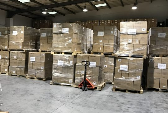 Logistics warehouse storage