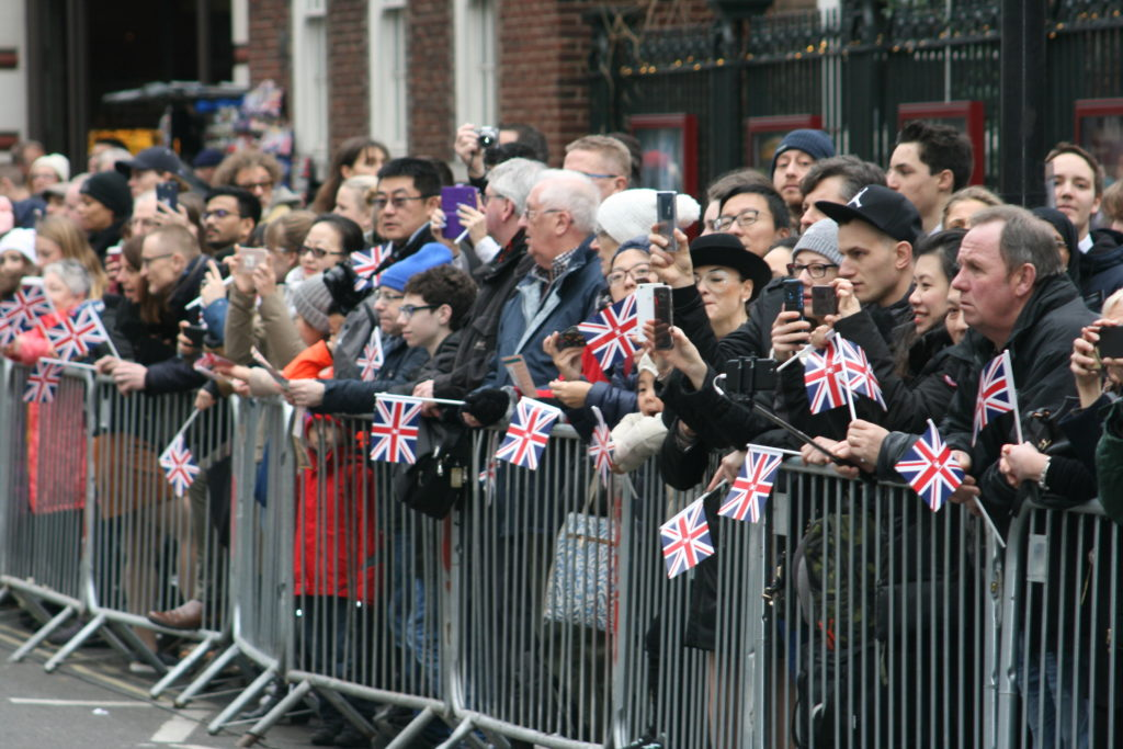 Flag distribution London New Years Day Parade 2018
